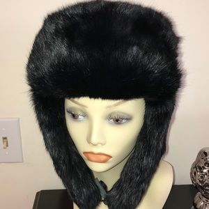 60s GOLDEN SWALLOW TRAPPER HUNTING HAT RABBIT FUR